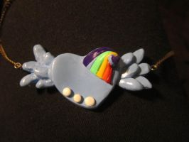 Rainbow dash Inspiration Necklace by Thekawaiiod