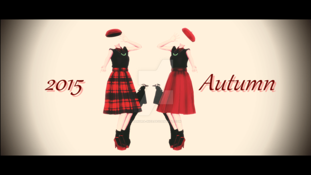 mmd 2015 autumn dress by sakura-nice