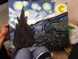 Starry Night painting by S-K-Y-L-I