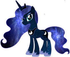 Galaxy Princess Luna Vector by Minkxs