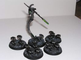 Necron Lord and Retinue by Calaith