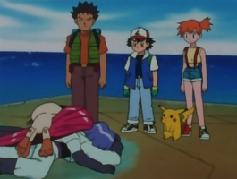 Ash, Misty and Brock commited a crime by Rain-and-Thunder