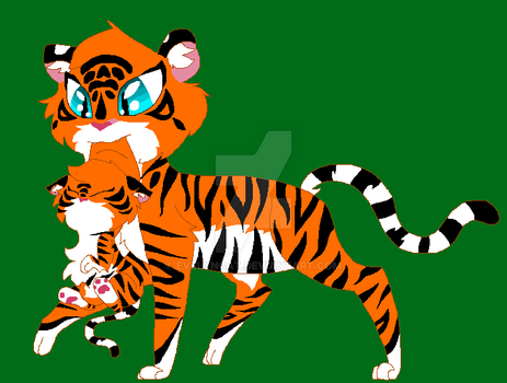 Tiger Family by EvelynCat