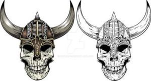 Viking Skull by rawclips