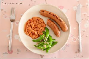 Sausage with baked beans 2 by patchow