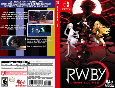 RWBY: Grimm Eclipse fanmade Nintendo Switch cover by Kuchenjaeger