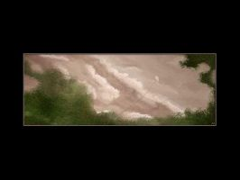 Study - Trees Clouds and Kite by matic
