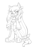 Kirlia Sonic X -Lineart by SWAG-Daddy