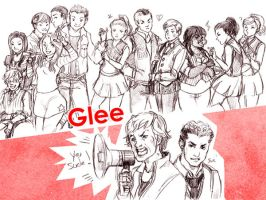 Glee cast by sanoe