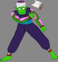 Barefoot Pure-Hearted Piccolo Jr. throwing away by DragonBallFan2012