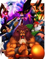 Red Earth Warriors(Capcom Fighting Tribute) by MightyGoodrum