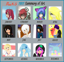 Rocki's 2012 Art Summary by Rockinface