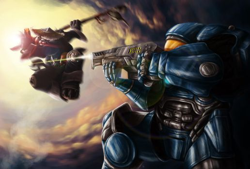 When worlds collide - Heroes of the Storm Contest by firlefanzzz
