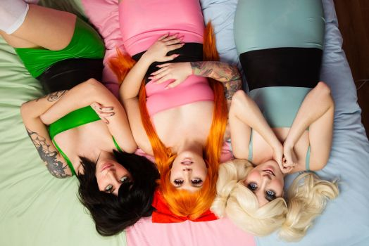 Power Puff Girls cosplay by KellyEden