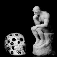 The Thinker and Death by bel17b