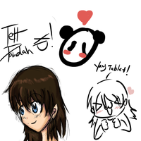 First tablet drawing by TehpandahxD