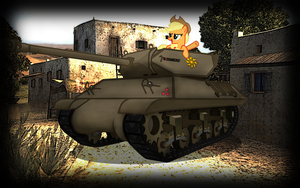 wallpaper: WOT/MLP crossover (screen 1) by crasydwarf