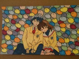 Tomoya and Nagisa Sleeping - dango background by AlPendragon