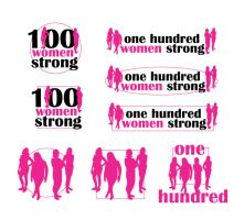 One Hundred Women Strong Logo by cyreneq