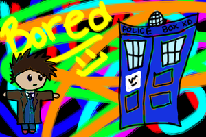 the doctor and the tardis by Wolfie-Freya