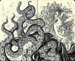 Cecaelia - moleskine. by agnes-green