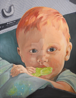 oil painting of  a boy by coralpinkflorescent