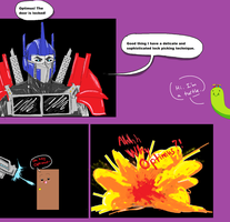 Optimus and locked doors by Dino-blankey