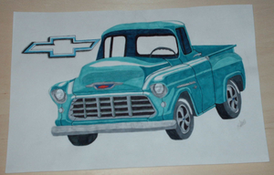 55' Chevy Pick-Up by PunkIn-Kitty
