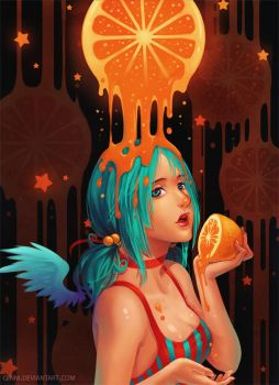 Orange Juice by Qinni