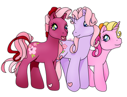 COMMISSION: Cheerilee, Cheerilee and Rarity (2/3) by PrettyWitchDoremi