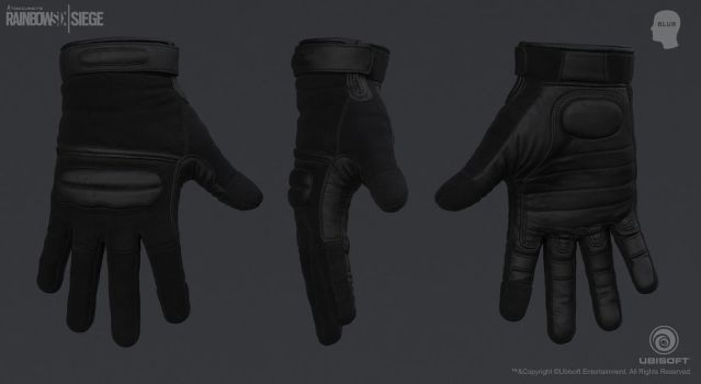 Rainbow Six Siege Cinematic SWAT - Gloves by mabdelfatah