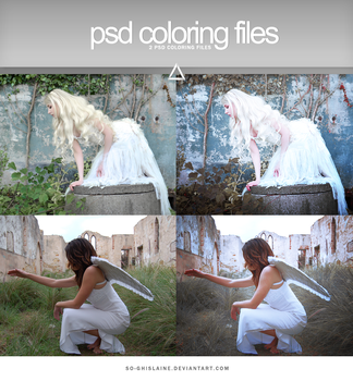 PSD coloring - Cold colors by So-ghislaine