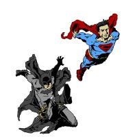 Batman and Superman by michaelharris