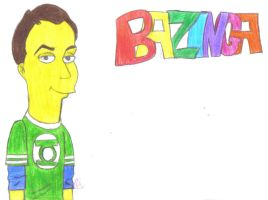 Simpsonized Sheldon Cooper by GreenDayFanGirl