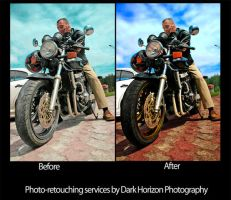 Man on Bike retouch by BohemianHarlot
