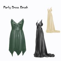 Party Dress Brushes by farmerstochter