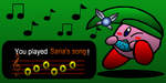 Kirby play saria's song by pouchnoubout