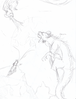 :Sketch: Page 1 Guardians battle by Creativepup702