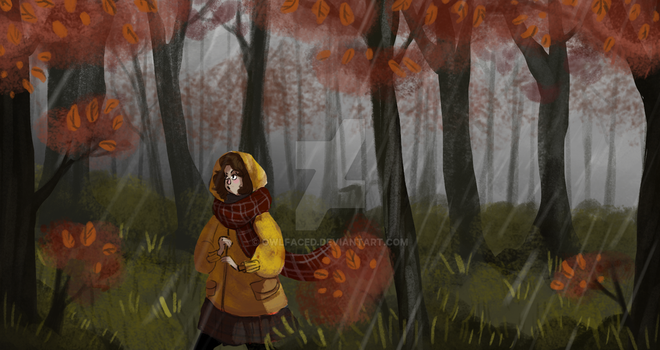 Through the woods by OwlFaced