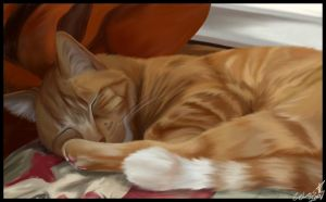 Painting- Sweet Sleepin' Fred by zelos22