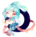 watch out! cute moonbunny coming through! by Suwakoi