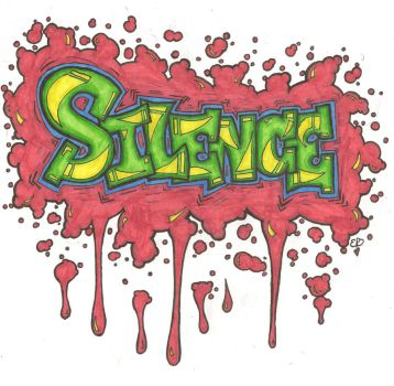 Silence - Graffiti by Emalynne-Blackwell