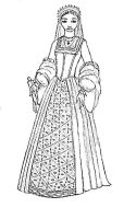 Tudor Lady Outline by taylor-of-the-phunk