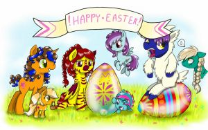Happy easter, everypony! by Shady-Bush