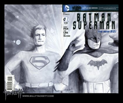 Batman Superman Sketch Cover by billytackett