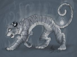Ghostly Tiger by malta