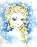Elsa (speedpaint-ish) by frostyshadows