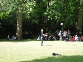 Heidi playing football by tharglet