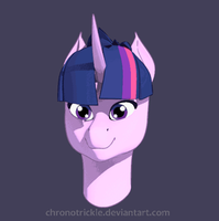 Twilight Sparkle 3D Bust Turntable [Outlines] by ChronoTrickle