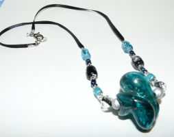 Chunky Art Glass Necklace by Eliea